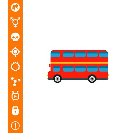 London Bus Icon vector illustration. Illustration