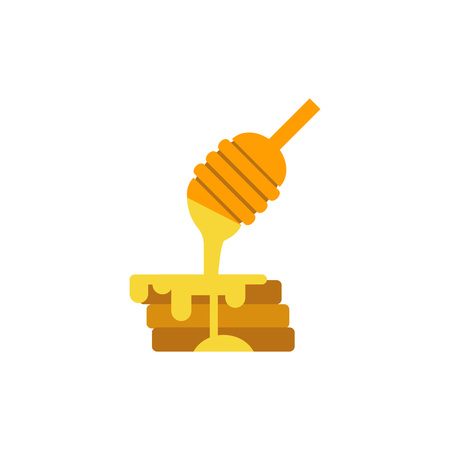 heap: Honey dipper and pancakes icon
