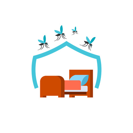 Mosquito net for bed icon