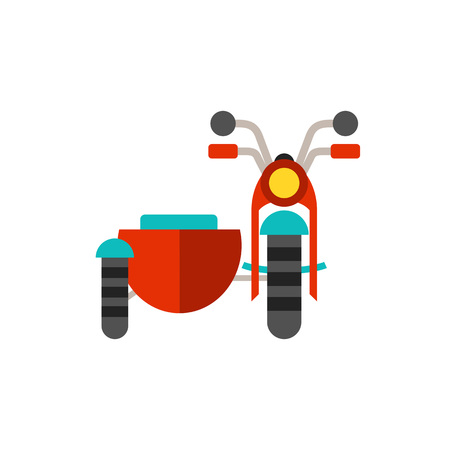 Motorcycle with sidecar icon