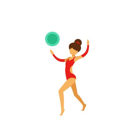 Artistic gymnastics icon Illustration