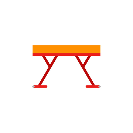 Icon of gymnastic beam. Equipment, sport, training. Gymnastics concept. Can be used for topics like balance, artistic gymnastics, skill