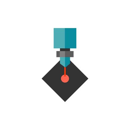 Lasersnijden icon Stock Illustratie
