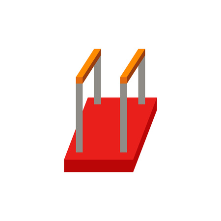 Parallel bars icon Illustration