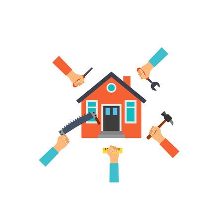 Renovation concept icon