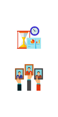 oath: Elections and time management icon set