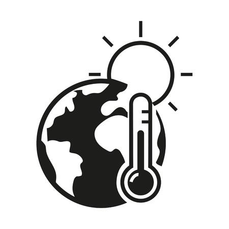 Icône du réchauffement climatique Banque d'images - 86554311