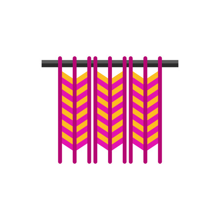 Vector icon of woven work. Macrame, knitting, handicraft. Handmade concept. Can be used for topics like hobby, leisure, creativity Vector Illustration
