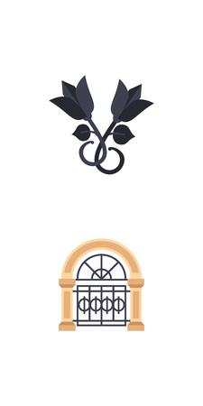 anvil: Iron works icon set