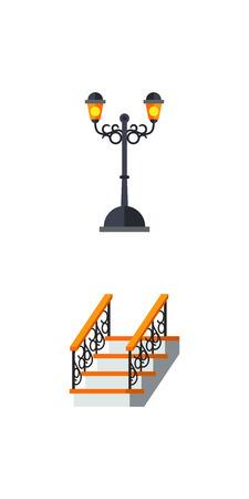 Metalwork icon set Illustration