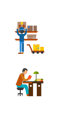 paintball: Occupation icon set Illustration