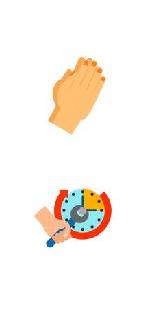 Positive gesture icon set Illustration