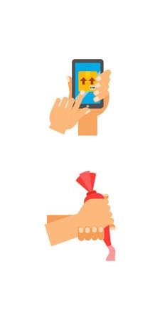 Professions icon set Illustration