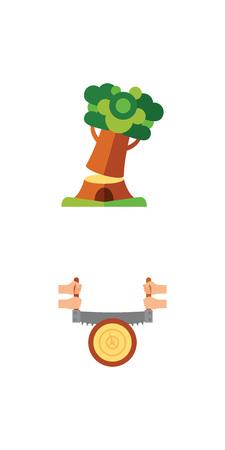 Sawmill icon set