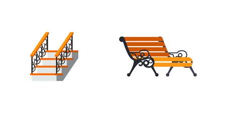 anvil: Forged work icon set Illustration