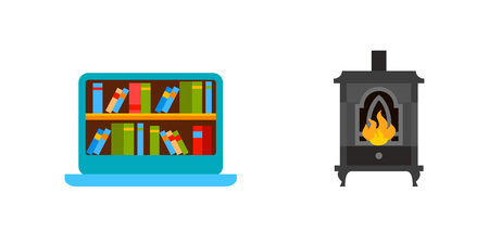 Home library icon set