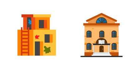 selling service: Public building icon set