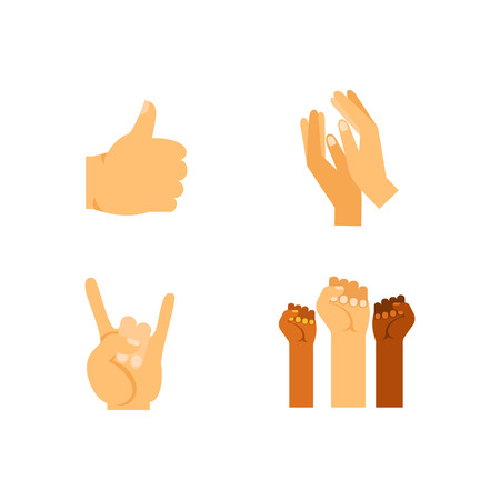 ジェスチャー アイコンを設定。親指拍手サーファー シャカロック保護 5 を与える親指戦い平和を祈って