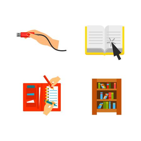 Library icon set