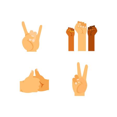 applauding: Gestures icon set