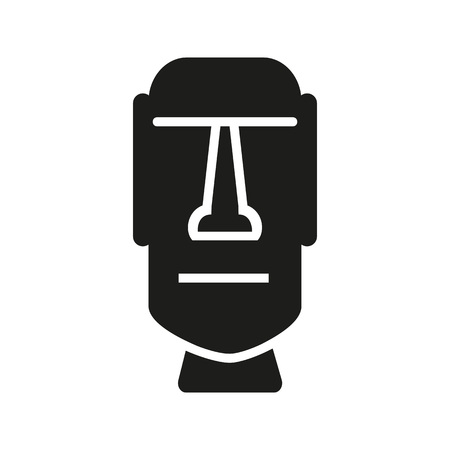 Easter Island icon Vector illustration. Illustration
