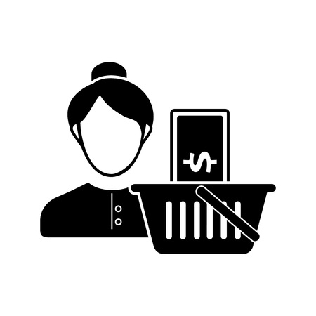 capital gains: Employee salary icon Vector illustration. Illustration