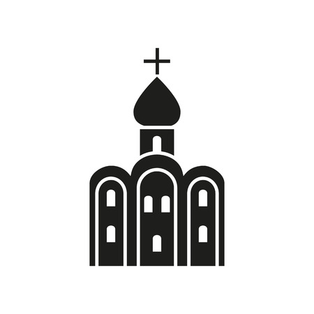 touristic: Icon of Russian church. Holy, Russian church , cross. Landmarks concept. Can be used for topics like culture, religion, cathedral