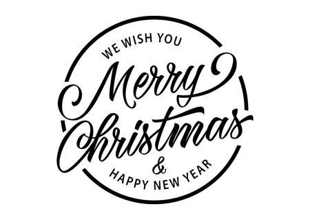 Merry Christmas inscriptie in cirkel