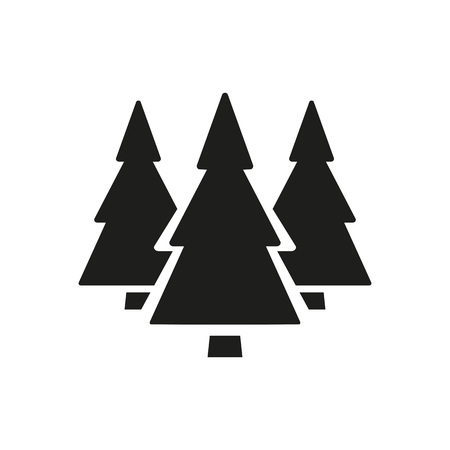 Coniferous forest icon Illustration