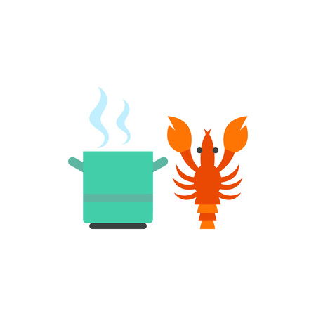 Cooking lobster vector icon