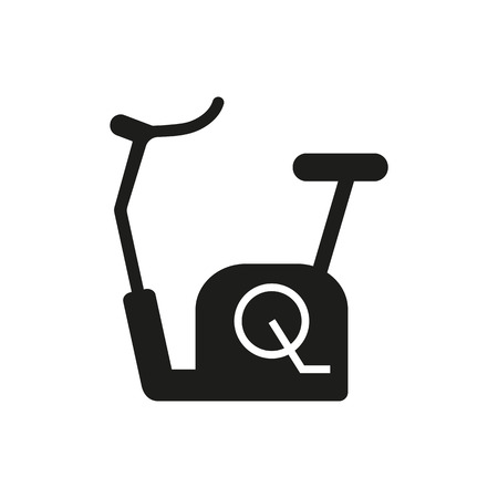 Exercise bike equipment icon