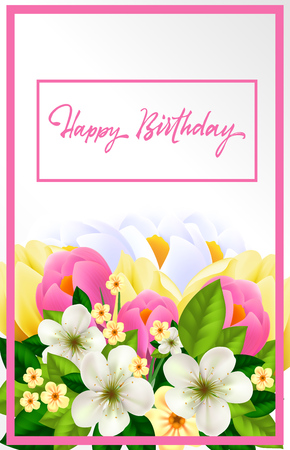 Happy Birthday Card For Woman Royalty Free Cliparts Vectors And