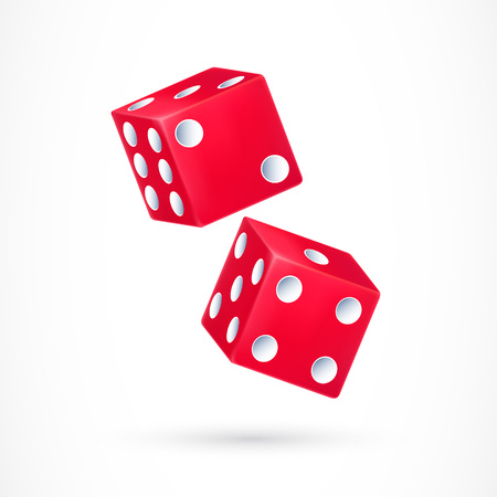 Two Red Dice Illustration