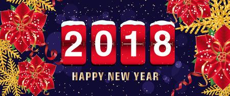 Happy New Year 2018 Lettering, Scoreboard