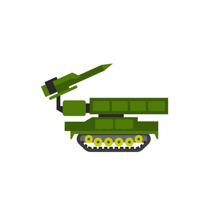 Anti Aircraft Missile System Vector Icon Illustration