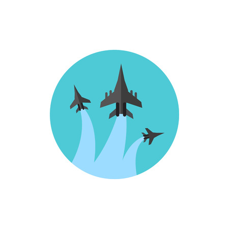 jets: Military Fighter Jets Performance Icon Illustration