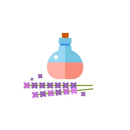 Lavendel ätherisches Öl Vektor Icon