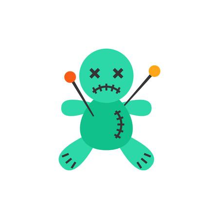Voodoo Doll Vector Icon Illustration
