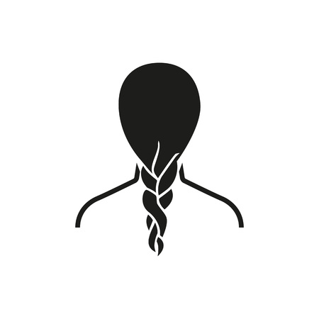 Braiding hair icon Vector illustration.