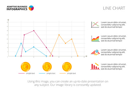 Three line charts diagram graph and template creative concept diagram graph and template creative concept for infographics presentation maxwellsz