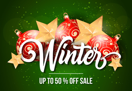 Up to Fifty Percent off Sale Lettering Illustration
