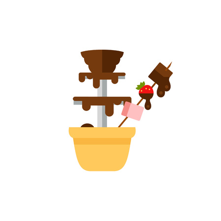 Chocolate fountain icon Illustration