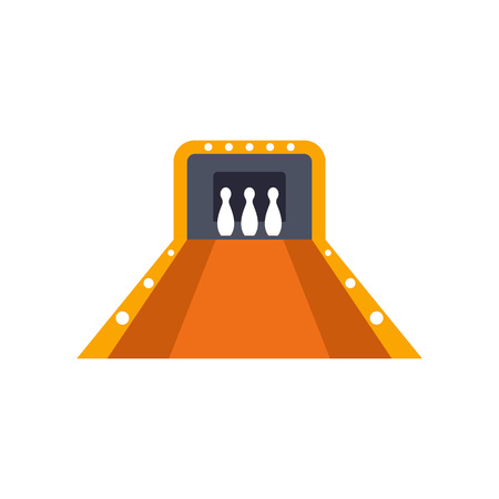knocking: Icon of bowling alley. Game, strike, pin. Bowling concept. Can be used for topics like sport, competition, tournament