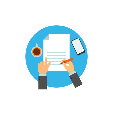 Writing on paper sheet icon