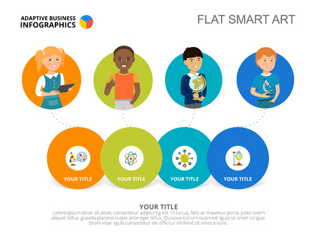 niños diferentes razas: Diagrama de opción Plantilla de diapositiva