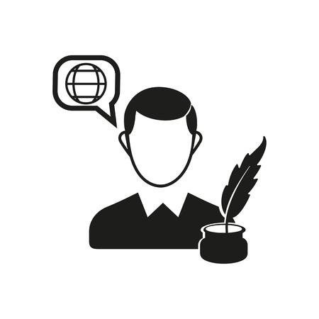 Blogger Vector Icon
