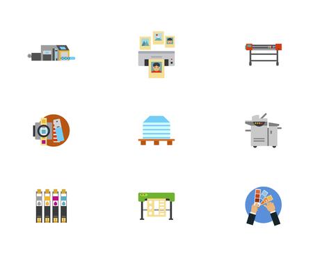 printshop: Equipment Icon Set