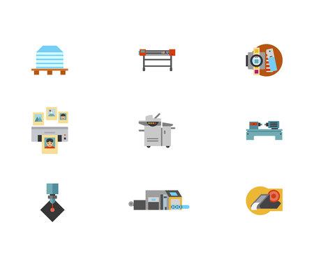 printshop: Printshop Icon Set Illustration