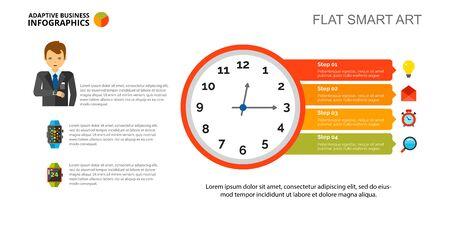 Clock diagram Slide Template Stock Photo - 89267719