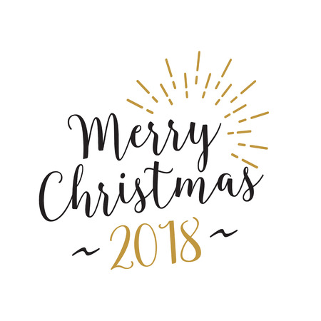 Shining Merry Christmas Lettering